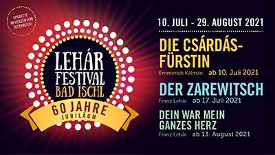 Lehàrfestival Bad Ischl 2021 - Salzkammergut Touristik - DE
